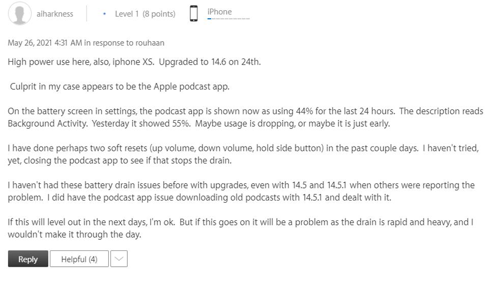 ข้อมูลการแก้ปัญหา แบตหมดเร็ว iOS 14.6 แบตไหล iPhone