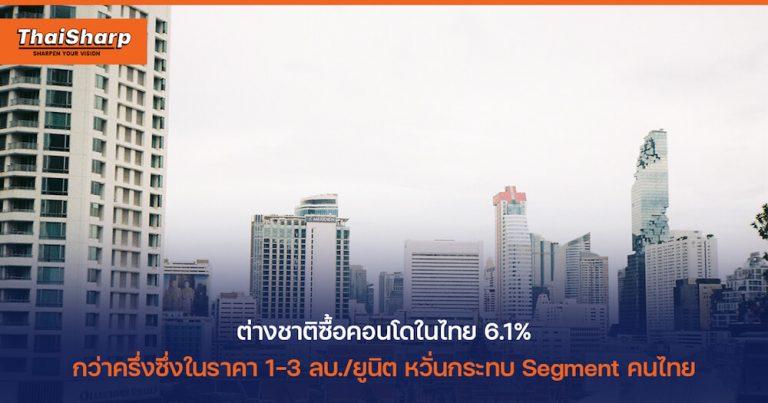 ข่าว ต่างชาติซื้อคอนโดในไทย ชาวต่างชาติซื้อคอนโด กรุงเทพ