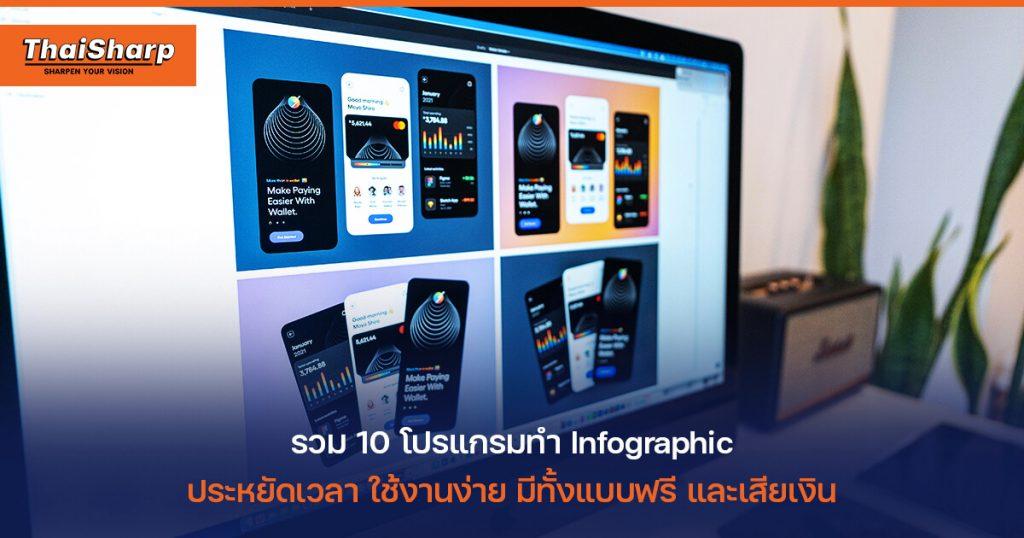 แนะนำ 10 โปรแกรม Infographic ออกแบบงานสวยๆ ได้ ในไม่กี่คลิก